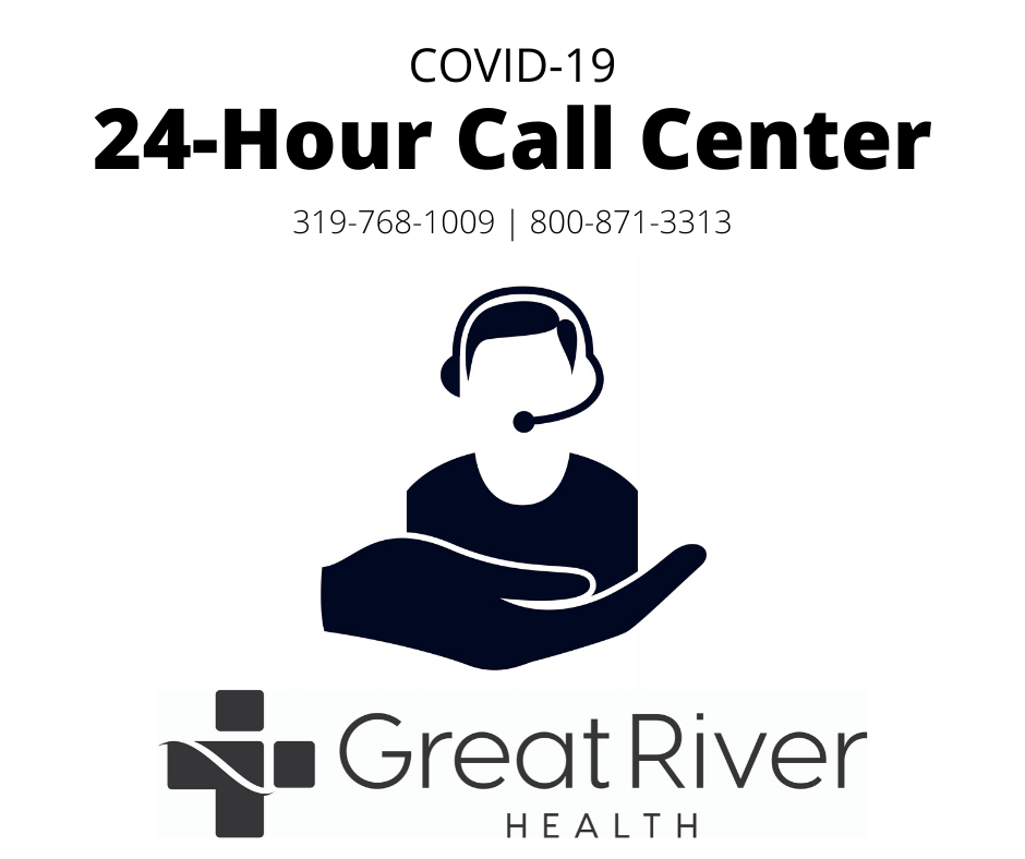 Great River Covid-19 Hotline